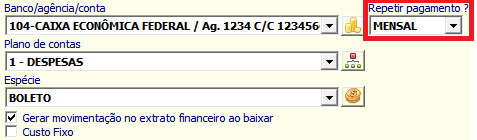 NeXT ERP Duplicatas Contas a Pagar