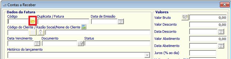 NeXT ERP Duplicatas Contas a Receber