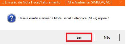 NeXT ERP Emissão Nota Fiscal