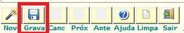 NeXT ERP cadastro  tipo OS