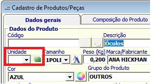 NeXT ERP cadastro Unidades_Medida